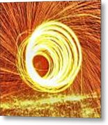 Shooting Sparks Metal Print