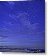 Shooting Star Over Bar Harbor Metal Print
