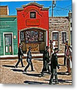 Shootout At The Ok Corral In Tombstone-arizona Metal Print