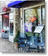 Shopfront - Music And Coffee Cafe Metal Print