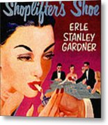 Shoplifter's Shoe. Vintage Pulp Fiction Paperback Metal Print