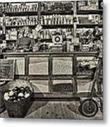 Shopping At The General Store Metal Print by Priscilla Burgers