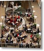Shopping Mall Metal Print
