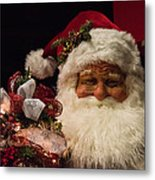 Shopping Mall Santa Metal Print