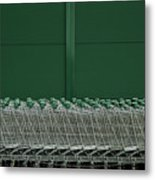 Shopping Trolleys Metal Print