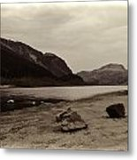 Shore Of A Loch In The Scottish Highlands Metal Print
