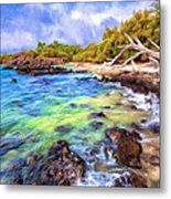 Shoreline At Puako Metal Print