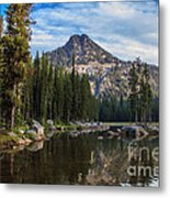 Shoreline View Of Anthony Lake Metal Print