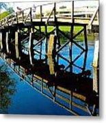 North Bridge On The Concord Metal Print