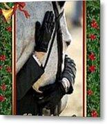 Show Horse English Blank Christmas Card Metal Print