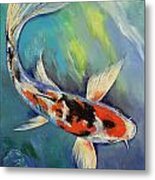 Showa Butterfly Koi Metal Print by Michael Creese