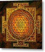 Shri Yantra Gold Lakshmi Metal Print