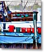Shrimp Boat Buckets Metal Print