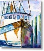 Shrimp Boat Isra Metal Print