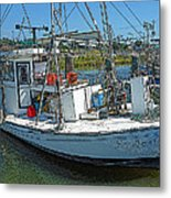 Shrimp Boat - Southern Catch Metal Print