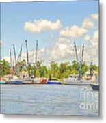 Shrimp Boats In Georgetown Sc Metal Print