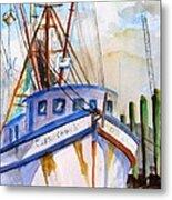 Shrimp Fishing Boat Metal Print