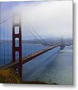Shrouded Golden Gate Bridge  Metal Print