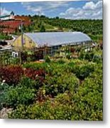Shrubbery At A Greenhouse Metal Print