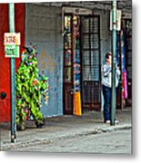 Shrubman On The Move Metal Print