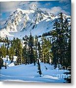 Shuksan Winter Paradise Metal Print by Inge Johnsson