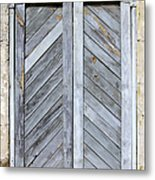 Weathered Wooden Shutters Metal Print