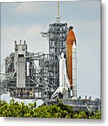 Shuttle Endeavour Is Prepared For Launch Metal Print