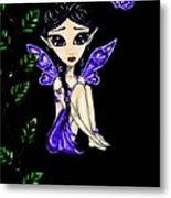 Shy Violet Fairy Metal Print