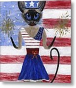 Siamese Queen Of The U S A Metal Print