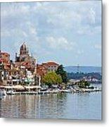 Sibenik Town On Adriatic Sea  Metal Print