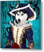 Siberian Husky Art Canvas Print - Baroness Metal Print