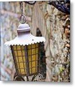 Sicilian Village Lamp Metal Print by David Smith