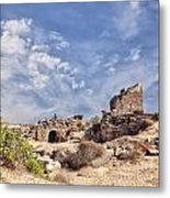 Side Ancient Archaeological Remains Metal Print