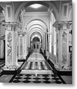 Side Hall Off The Main Entrance Belfast City Hall Built In 1906 County Antrim Northern Ireland Metal Print