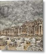 Side Nymphaeum Fountain Ruins Metal Print