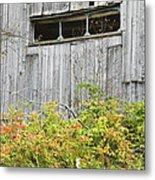 Side Of Barn In Fall Metal Print