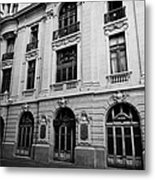 side of Santiago Stock Exchange building Chile Metal Print