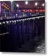 Side Of The Pier - Santa Monica Metal Print