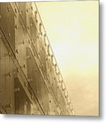 Side View Modern Glass Building In Baltimore Metal Print