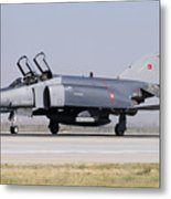 Side View Of A Turkish Air Force Metal Print