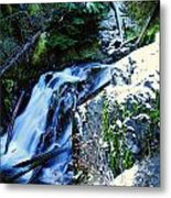 Side View Of Bumping Creek Falls Metal Print