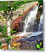 Side View Of Southeast Brook Falls In Gros Morne Np-nl Metal Print