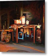 Sidewalk Cafe Metal Print by Sue  Darius