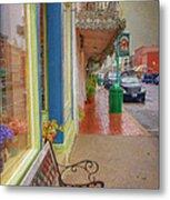 Sidewalk Shot Weston Missouri Metal Print