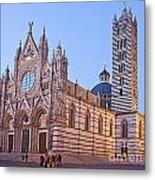 Siena Duomo At Sunset Metal Print