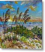 Siesta Beach Sunset Dunes Metal Print