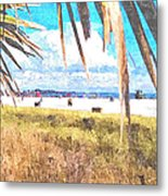 Siesta Key In Fall Metal Print