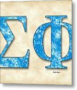 Sigma Phi Society - Parchment Metal Print