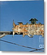 Sign From The Past Metal Print