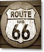 Sign Of The Old Road Metal Print